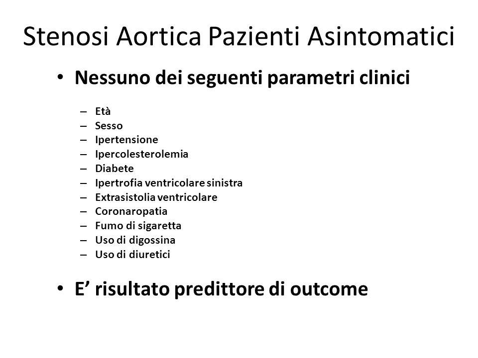 Stenosi Aortica Pazienti Asintomatici
