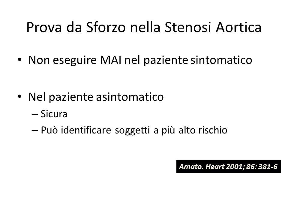 Prova da Sforzo nella Stenosi Aortica