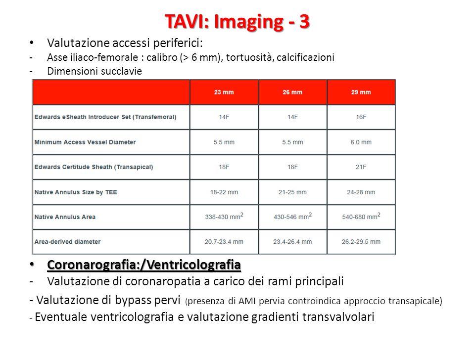 TAVI: Imaging - 3 Coronarografia:/Ventricolografia