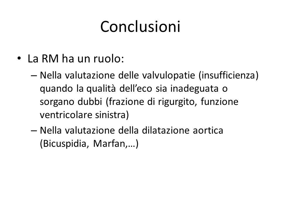Conclusioni La RM ha un ruolo: