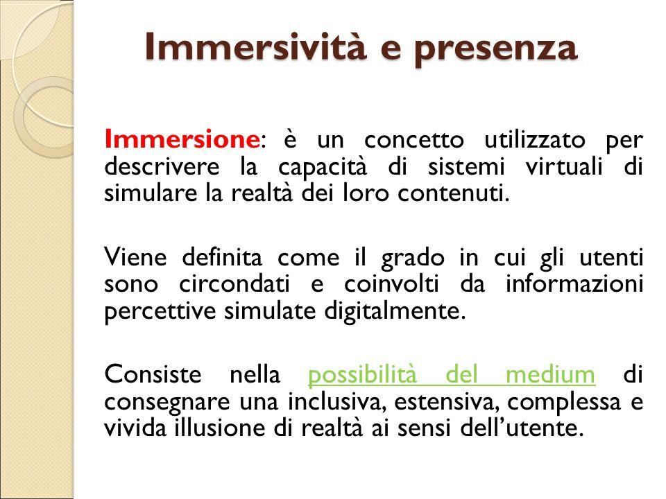 Immersività e presenza