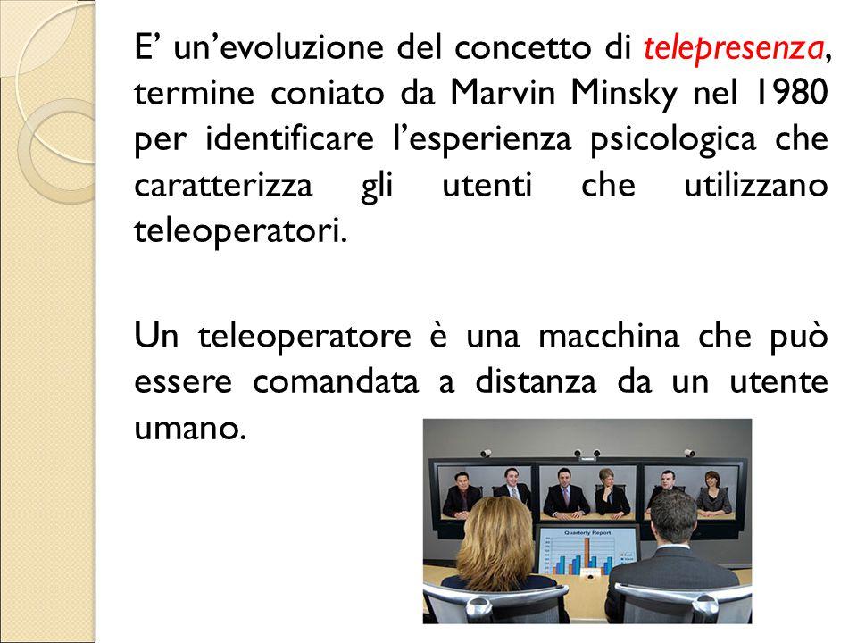 E' un'evoluzione del concetto di telepresenza, termine coniato da Marvin Minsky nel 1980 per identificare l'esperienza psicologica che caratterizza gli utenti che utilizzano teleoperatori.