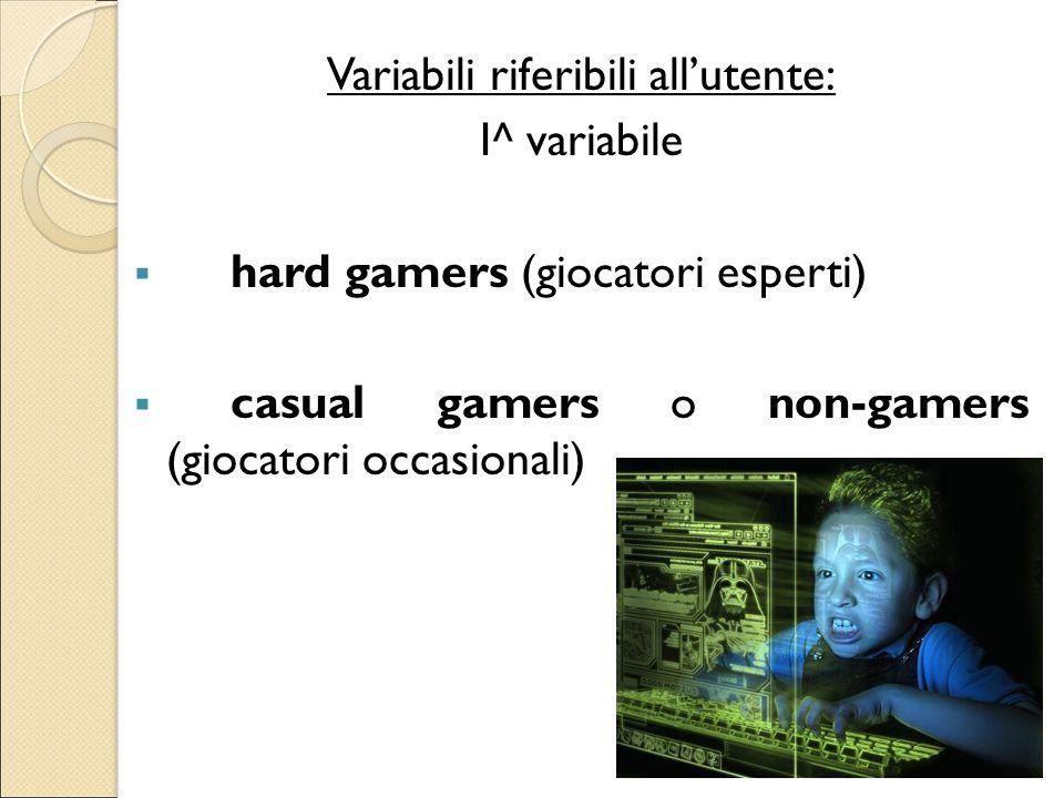Variabili riferibili all'utente: