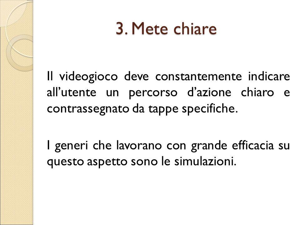 3. Mete chiare