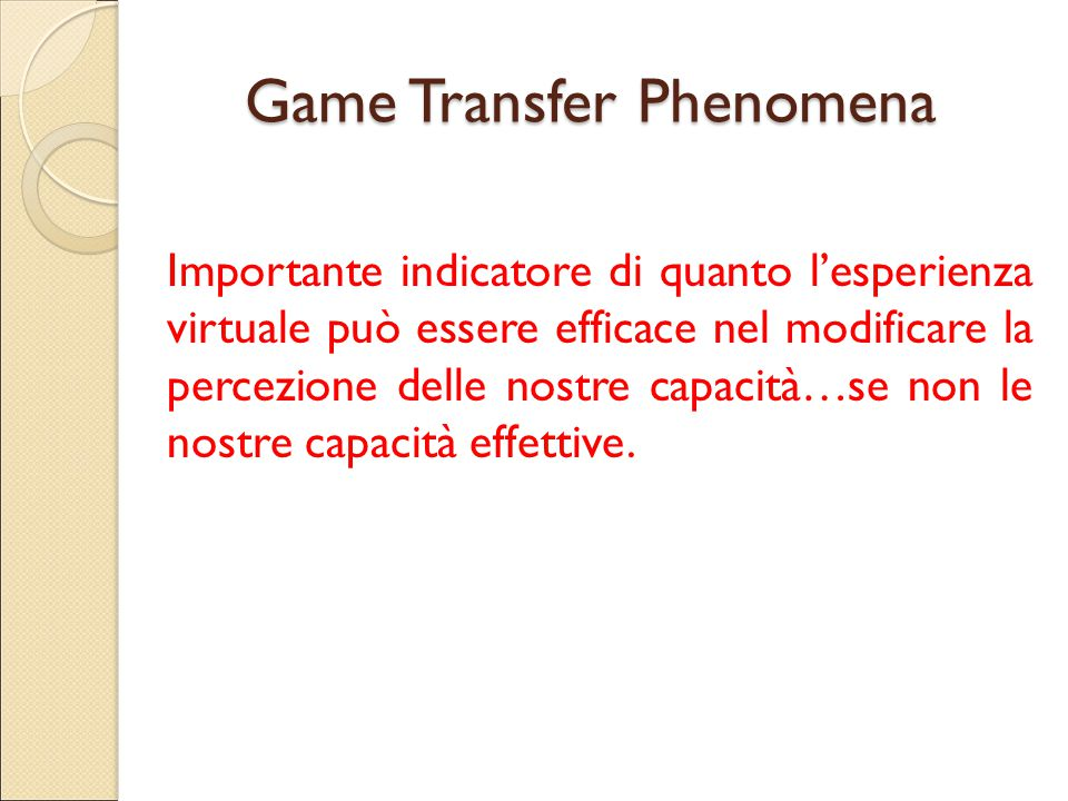 Game Transfer Phenomena
