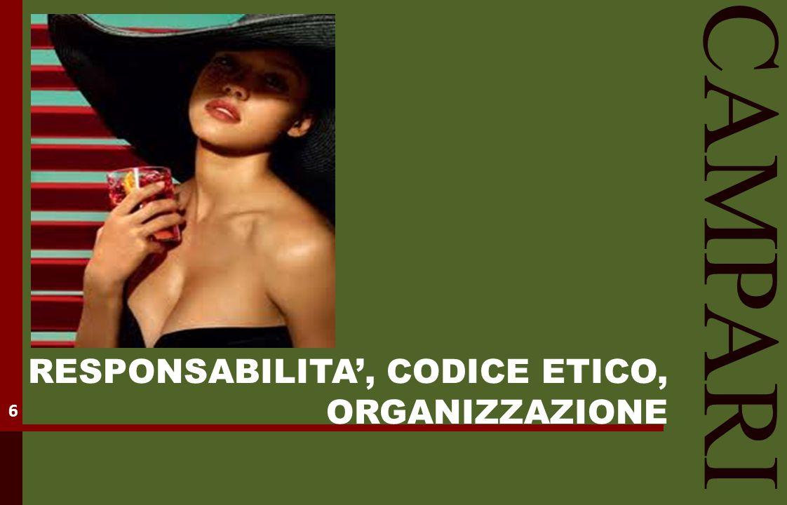 CAMPARI RESPONSABILITA', CODICE ETICO, ORGANIZZAZIONE 6