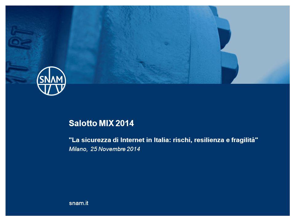 Salotto MIX 2014 La sicurezza di Internet in Italia: rischi, resilienza e fragilità
