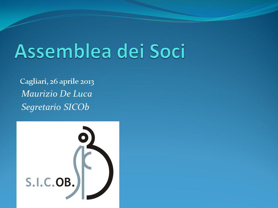 Assemblea dei Soci Maurizio De Luca Segretario SICOb