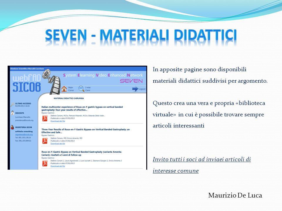 SEVEN - Materiali didattici