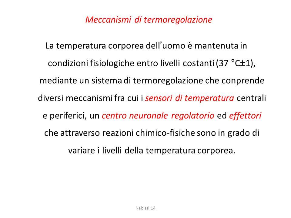 Meccanismi di termoregolazione