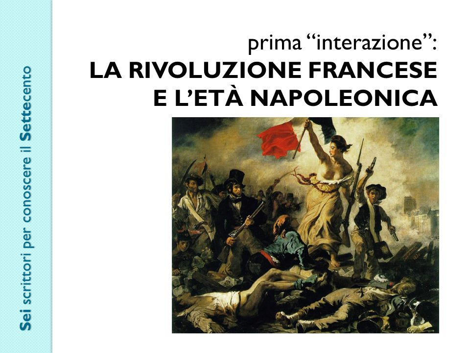 LA RIVOLUZIONE FRANCESE E L'ETÀ NAPOLEONICA