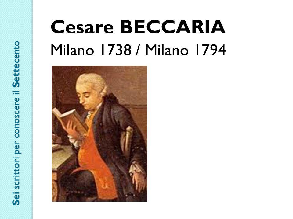 Cesare BECCARIA Milano 1738 / Milano 1794