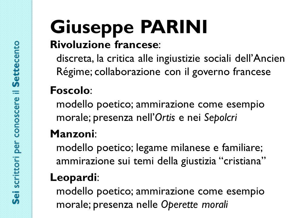 Giuseppe PARINI Rivoluzione francese: