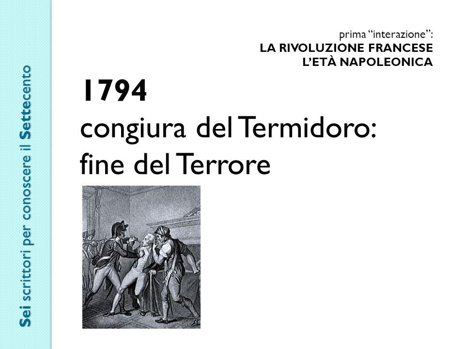 congiura del Termidoro: fine del Terrore