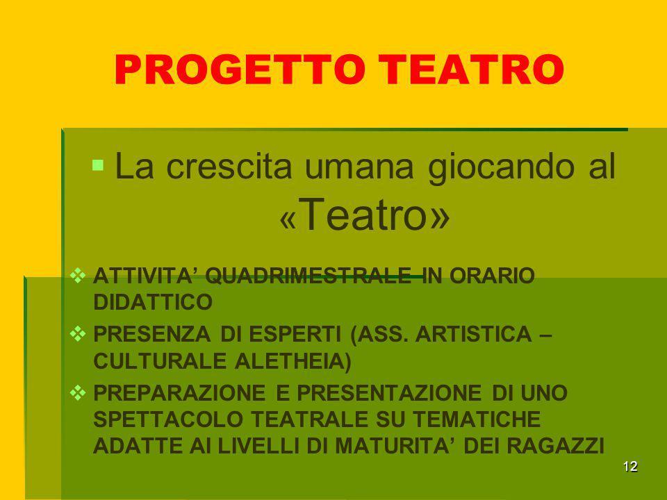 La crescita umana giocando al «Teatro»