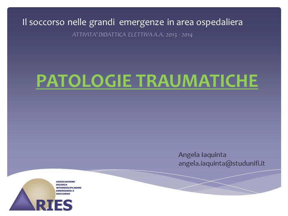 PATOLOGIE TRAUMATICHE