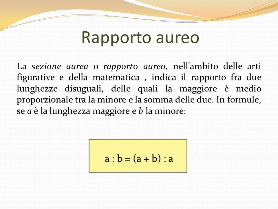 Rapporto aureo a : b = (a + b) : a