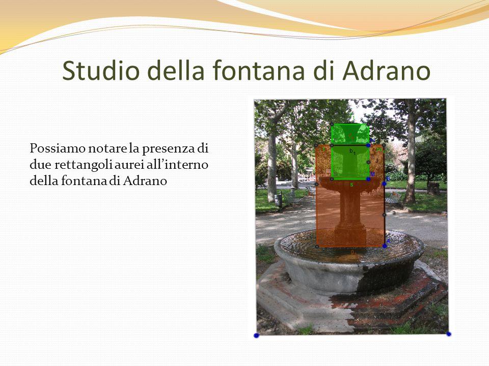 Studio della fontana di Adrano