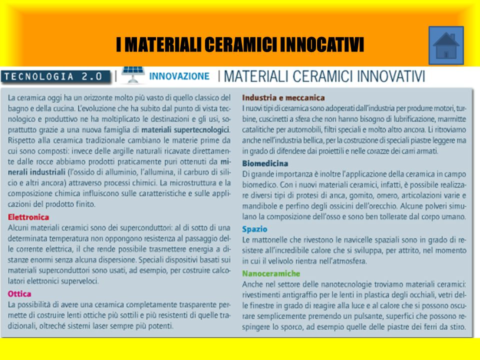 I MATERIALI CERAMICI INNOCATIVI