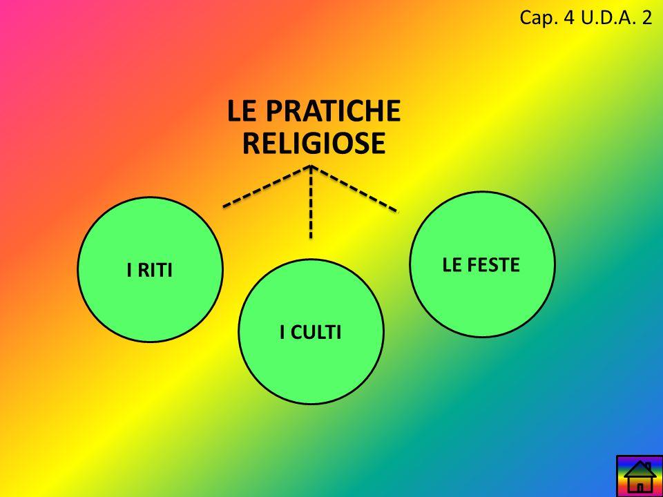 Cap. 4 U.D.A. 2 LE PRATICHE RELIGIOSE LE FESTE I RITI I CULTI