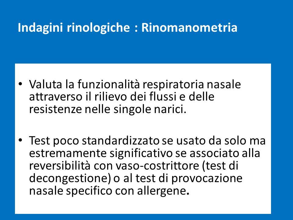 Indagini rinologiche : Rinomanometria