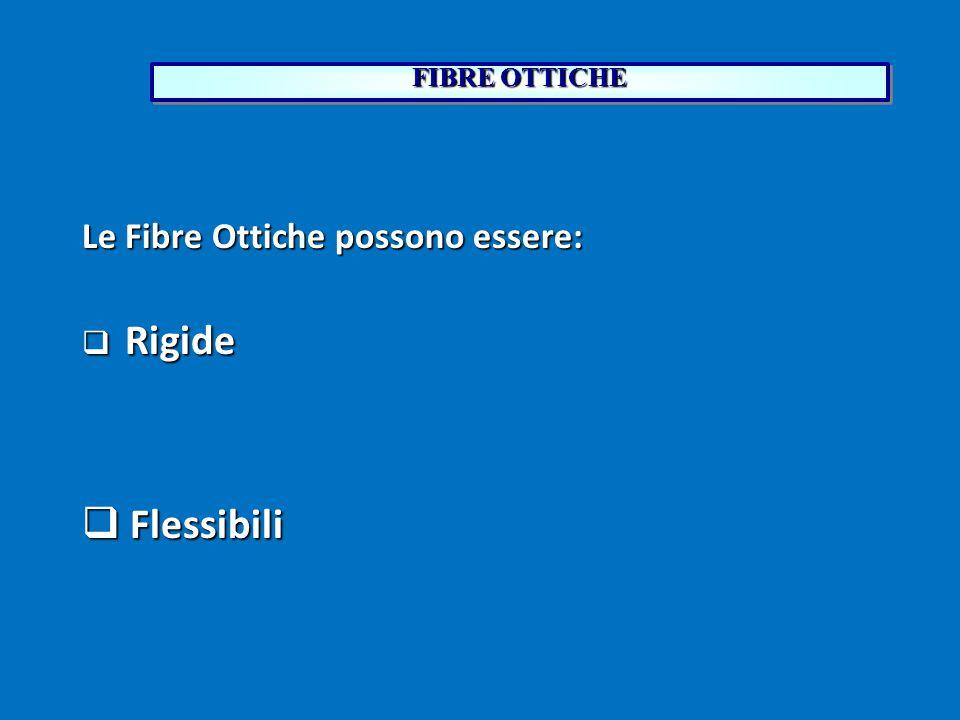 FIBRE OTTICHE Le Fibre Ottiche possono essere: Rigide Flessibili 16