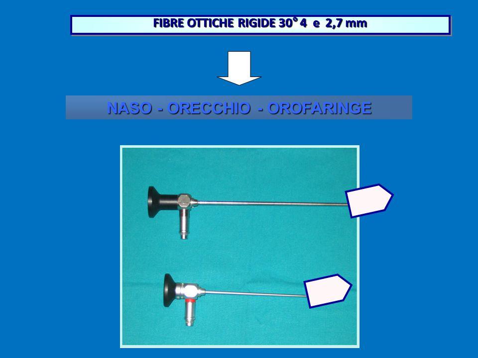 FIBRE OTTICHE RIGIDE 30° 4 e 2,7 mm NASO - ORECCHIO - OROFARINGE