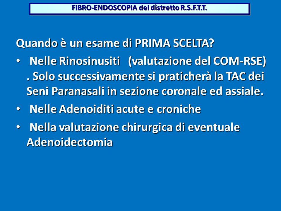 FIBRO-ENDOSCOPIA del distretto R.S.F.T.T.