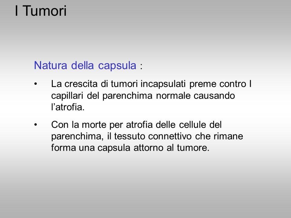 I Tumori Natura della capsula :