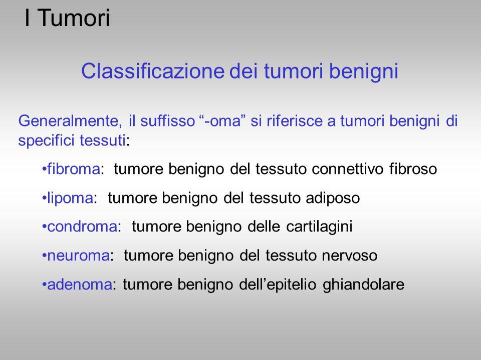 Classificazione dei tumori benigni