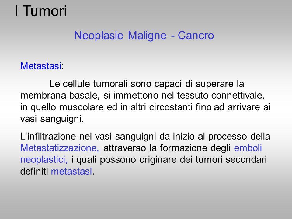 I Tumori Neoplasie Maligne - Cancro Metastasi: