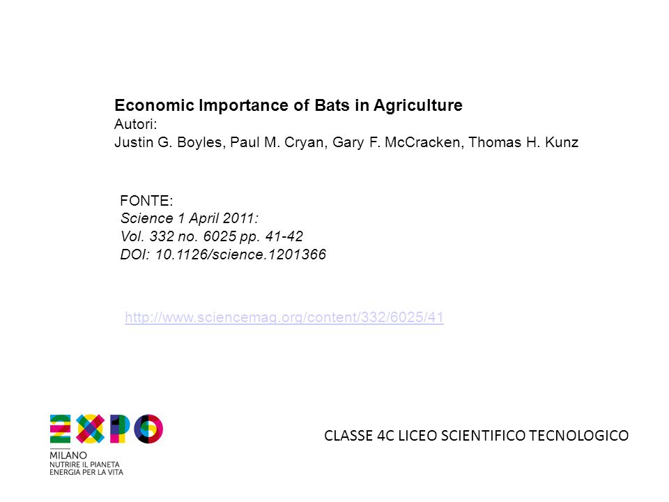Economic Importance of Bats in Agriculture