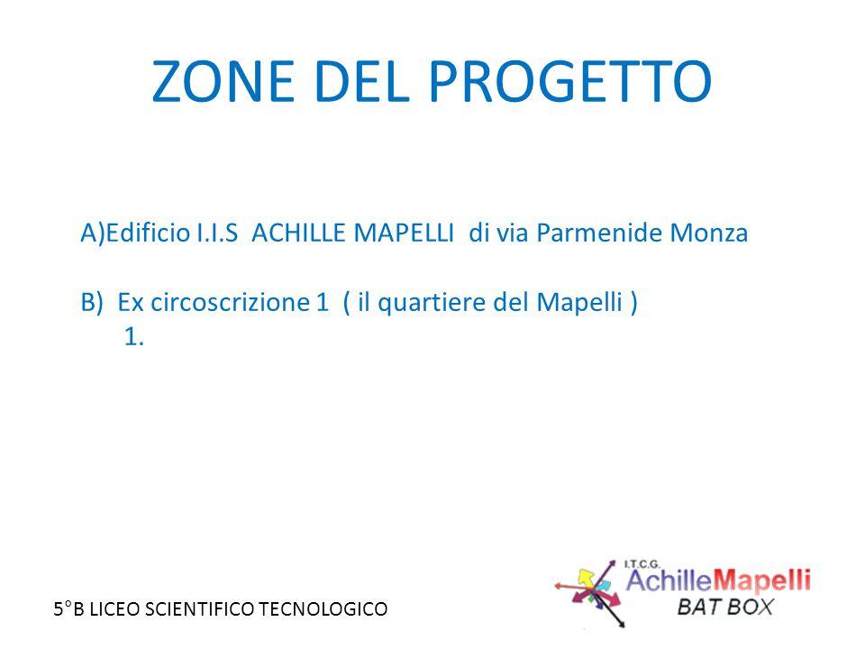 ZONE DEL PROGETTO Edificio I.I.S ACHILLE MAPELLI di via Parmenide Monza. B) Ex circoscrizione 1 ( il quartiere del Mapelli )