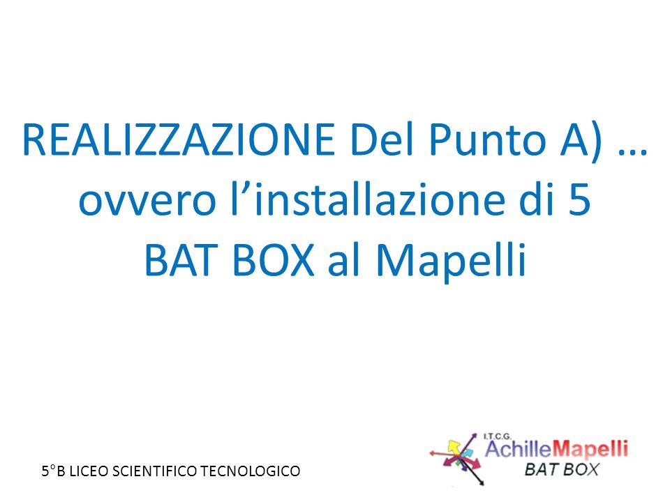 REALIZZAZIONE Del Punto A) … ovvero l'installazione di 5 BAT BOX al Mapelli