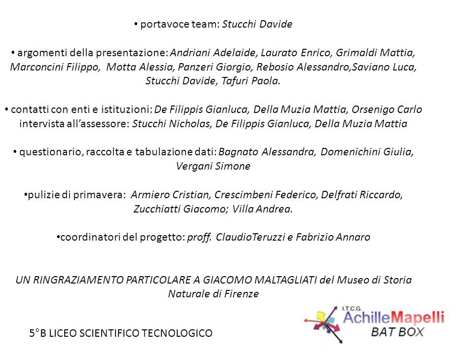 portavoce team: Stucchi Davide
