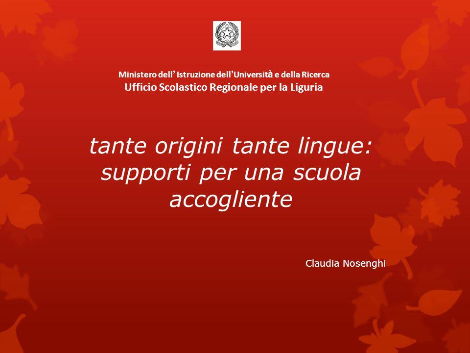 tante origini tante lingue: supporti per una scuola accogliente