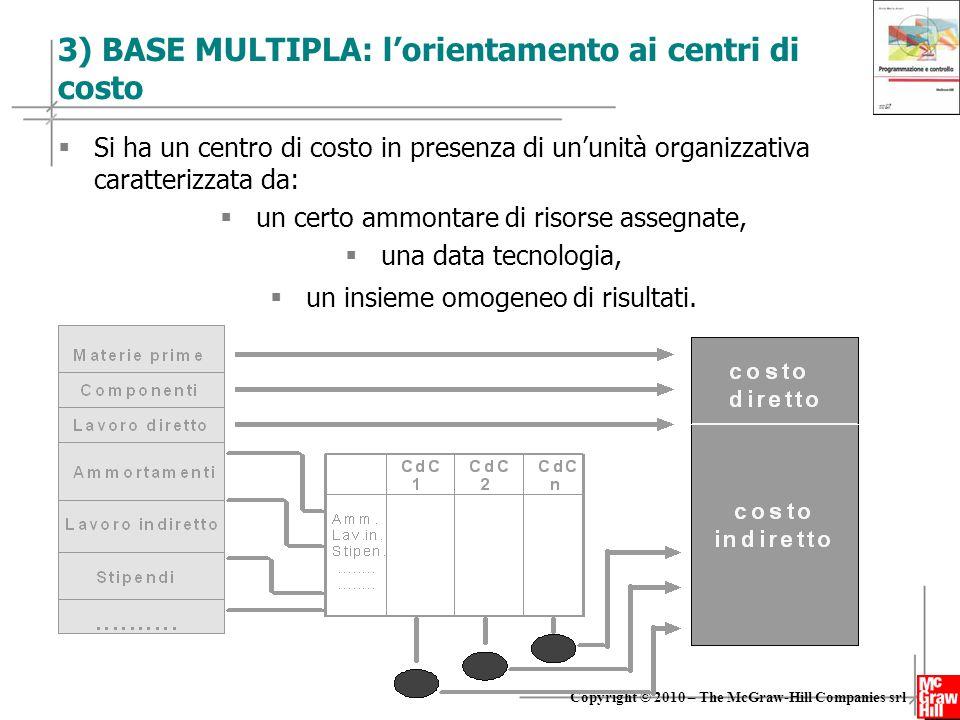 3) BASE MULTIPLA: l'orientamento ai centri di costo