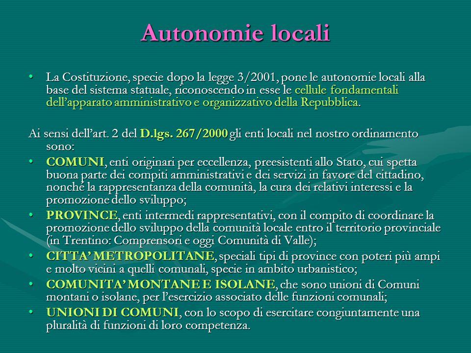 Autonomie locali