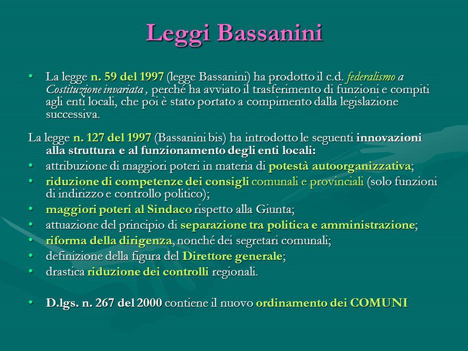 Leggi Bassanini