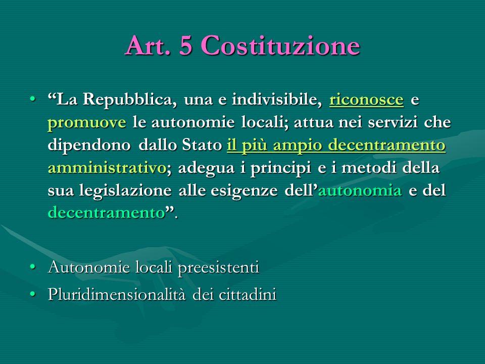 Art. 5 Costituzione