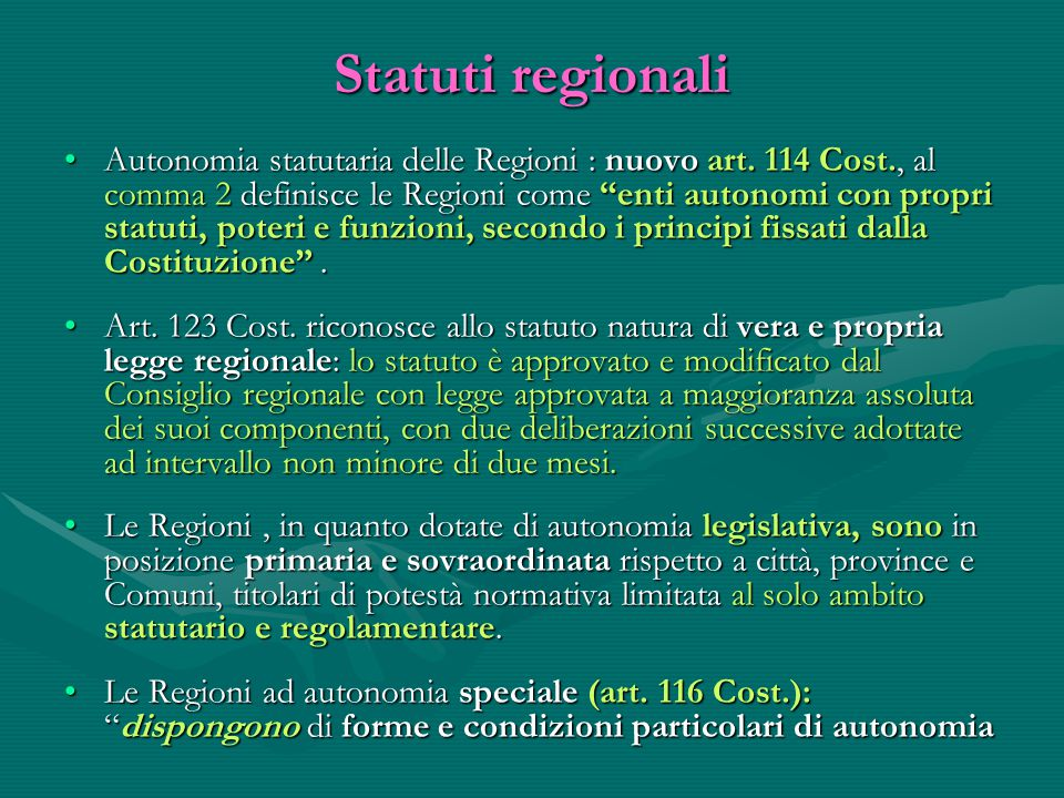 Statuti regionali