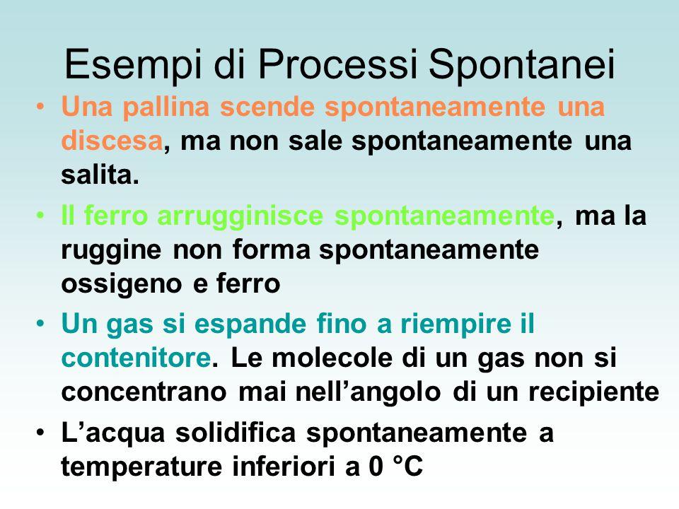 Esempi di Processi Spontanei