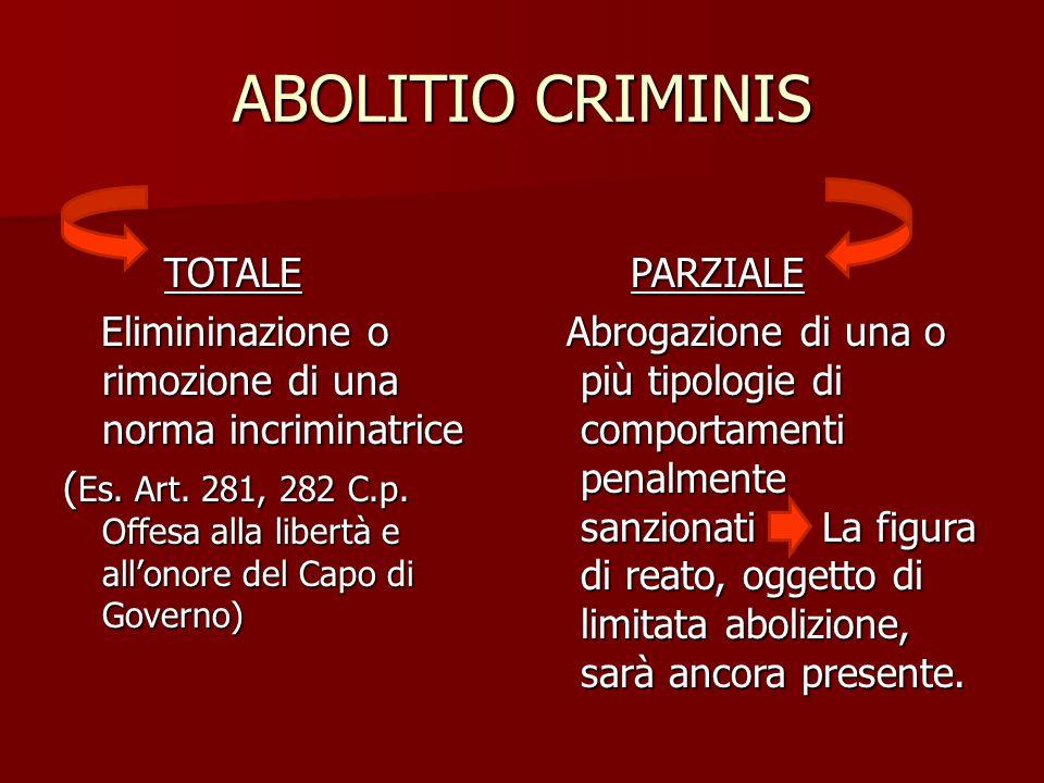 ABOLITIO CRIMINIS TOTALE
