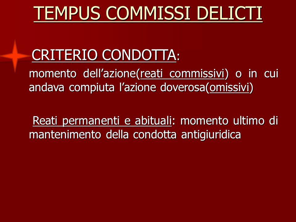 TEMPUS COMMISSI DELICTI
