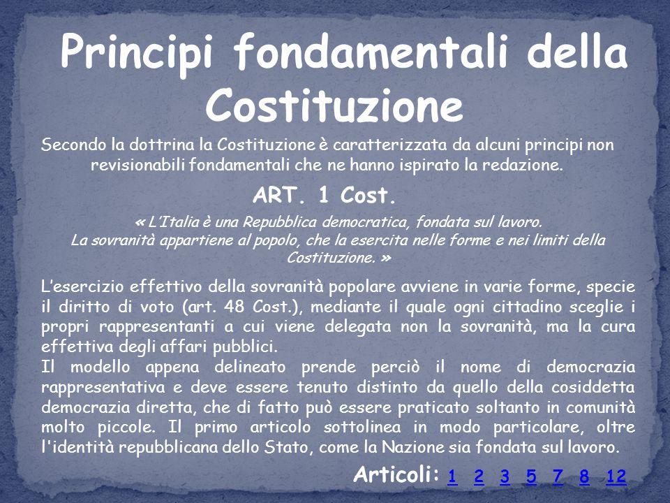 Principi fondamentali della Costituzione