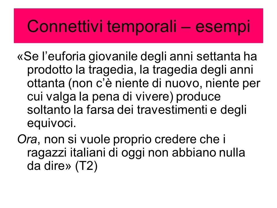 Connettivi temporali – esempi