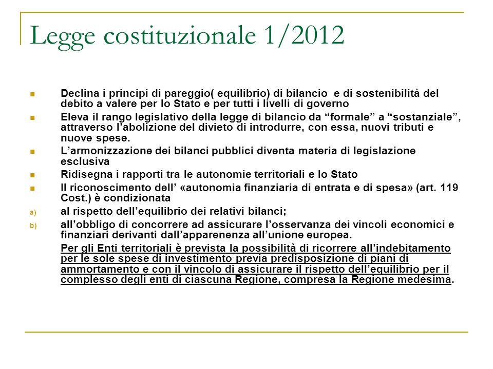 Legge costituzionale 1/2012
