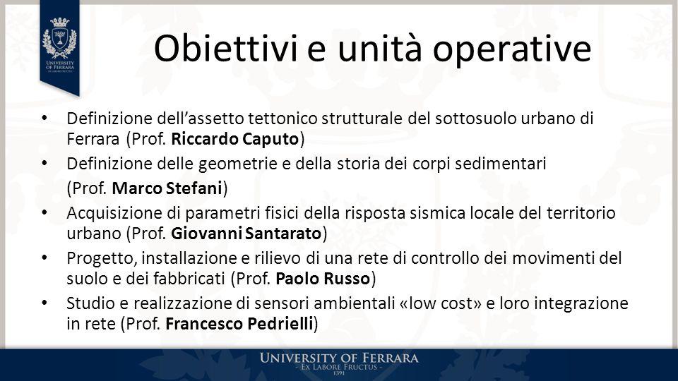 Obiettivi e unità operative