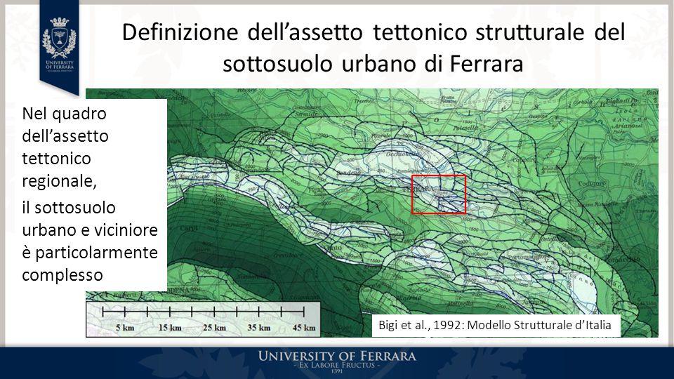 Definizione dell'assetto tettonico strutturale del sottosuolo urbano di Ferrara