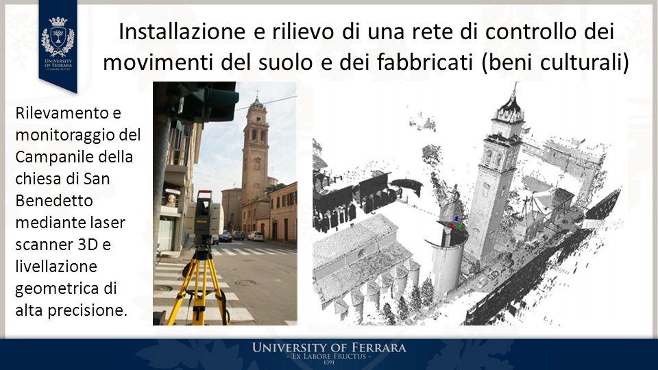Installazione e rilievo di una rete di controllo dei movimenti del suolo e dei fabbricati (beni culturali)